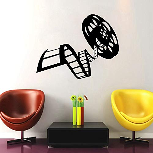 Reel Of Film Film Vinyl Wandaufkleber Kino Film Decor Für Wohnzimmer Wandbild Kunst Wandtattoos Film Studio Decor 107X58CM