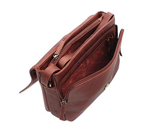 Visconti Lederhandtasche Stil 03190 Braun Braun