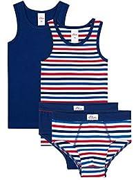 s.Oliver - Juego de ropa interior para niño (4 piezas, incluye calcetines), color azul