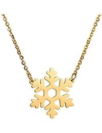 EG/_kreativ Leuchtendes Schneemann Weihnachtsmann Glasflasche Anhänger Halskette