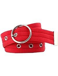 5a9910779e63 Bevalsa Ceinture tissu unisexe ceintures etoffe hommes ceinture femmes  ceinture en boucle en métal Respirant Sports