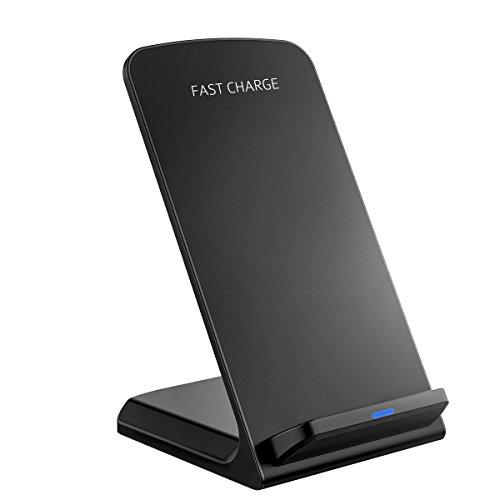 Fast Wireless Charger, HoLife Qi Ladegerät Charger Induktive Ladestation Kabelloses Laden mit Schnellladefunktion (2-3 Stunden Aufladen) für Samsung Galaxy S8/S8 Plus/ S7/ S7 Edge/ S6 Edge Plus/ Note 5 und alle Qi-fähige Geräte
