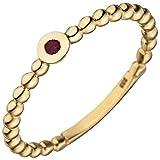 Ring Damen 8 Karat (333) Gelbgold Breite ca. 3,6 mm Rubin 1 50 (15.9)