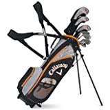 Callaway Junior Boys XJ Hot Package Set with Driver360cc Fairway Wood HybridDesigned 7-Iron 9-Iron Sand Wedge Putter and Stand Bag 9-12 years