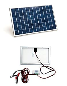 10W 12V ECO-WORTHY solar charging kit with 10W solar panel, advanced 3A PWM charge controller and battery cable  This kit includes a waterproof high efficiency 10W solar panel which is perfect for permanent outdoor use to provide free power for charg...