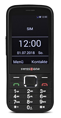 Swisstone BBM 570 3G GSM-Mobiltelefon (7,11 cm (2,8 Zoll) Display) schwarz