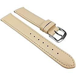 Birkenstock Replacement Band Watch Band Leather Kalf Strap Beige 20403S, width:12mm