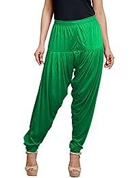Goodtry Women's patiyala Free Size-dark Peacock green