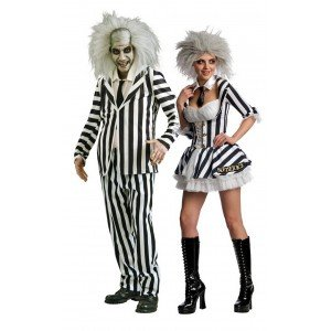 Couples Mr & Mrs Beetlejuice Costume Set. Many sizes