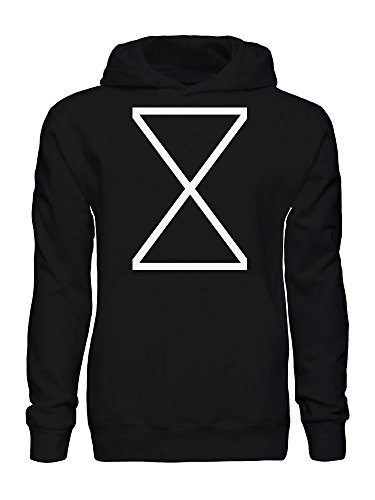Triangles X Sand Clock Sands of Time Minimal Men's Hooded Sweatshirt Small (Sands Of Time Clock)