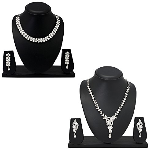 Atasi International Diamond Look Combos Jewellery Set