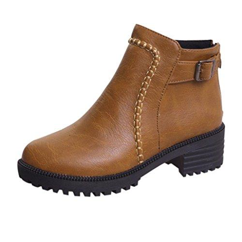 Schuhe Biker Boots Chelsea Boots Martin Boots Damen Ankle Stiefel DOLDOA