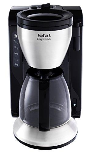 Tefal Express Libera installazione Macchina da caffè con filtro 1.25L 15tazze Nero, Acciaio inossidabile