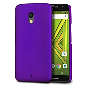 Fettion Moto X Play Case, Premium Slim Lightweight PC Matte Hard Case for Motorola Moto X Play (2015) Phone (Matte - Purple)
