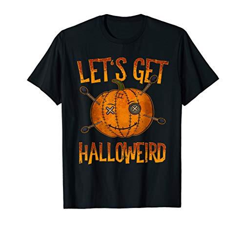 lustige Halloween Voodoo Puppe T-Shirt ()
