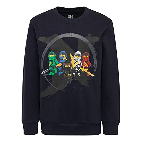 LEGO Jungen Ninjago cm Sweatshirt, Blau (Dark Navy 590), (Herstellergröße: 152) -