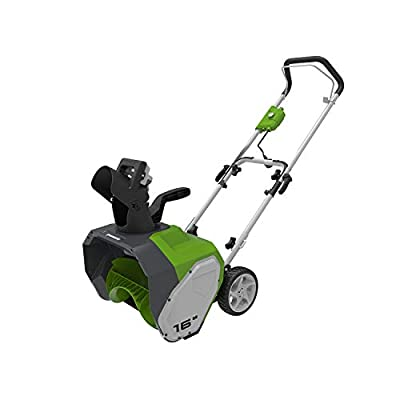 Greenworks 2600700AZ Schneefräse, 40,6 cm, 10 Amp