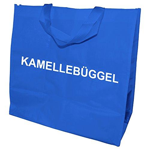 Kamellebüggel - Kamellebeutel für Wurfmaterial Tasche für Karneval, Fastnacht, Fasching (Blau)
