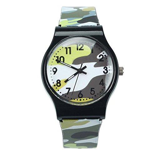 BEIBEILE Kinderuhren Camouflage Kinder Uhr Quarz Armbanduhr Für Mädchen Boy Lady Dress Watch