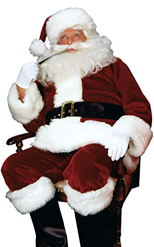 Santa Rubies Anzug Kostüm - Rubie's Erwachsenen Deluxe Crimson Imperial Santa Anzug Standard (Chest 38-42