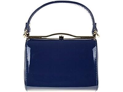 LeahWard Ladies Women's Chic Patent Top Handle Clutch Handbag Wedding Evening Bags 16688