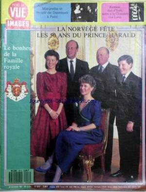 POINT DE VUE IMAGES DU MONDE [No 2013] du 27/02/1987 - MARGRETHE ET HENRIK DE DANEMARK A PARIS. ANDREW DUC D'YORK ENTRE A LA CHAMBRE DES LORDS. LA NORVEGE FETE LES 50 ANS DU PRINCE HARALD.