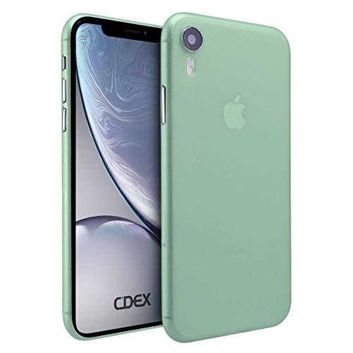 doupi UltraSlim Hülle für iPhone Xr (iPhone 10r) 6,1 Zoll, Ultra Dünn Fein Matt Handyhülle Cover Bumper Schutz Schale Hard Case Taschenschutz Design Schutzhülle, grün -