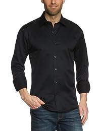 SELECTED HOMME Herren Freizeithemd Slim Fit 16016583 One Pelle Caracas black