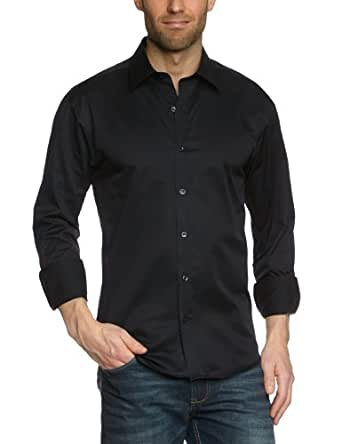 SELECTED HOMME Herren Freizeithemd Slim Fit 16016583 One Pelle Caracas, Gr. 48 (M), Schwarz (Black)