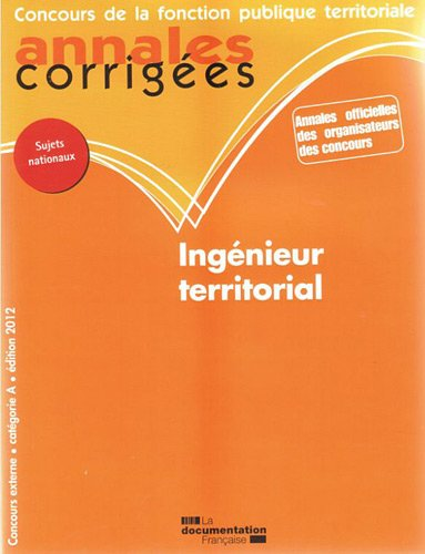Ingnieur territorial 2012 - Concours externe catgorie A