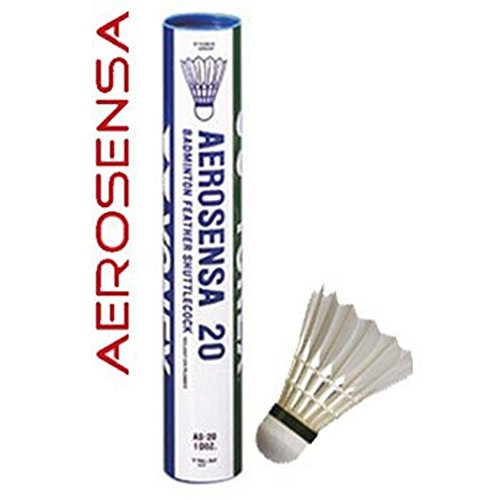 Yonex AeroSensa-20 Gänsefeder Badminton Federbälle, Naturell, 78-Medium-Blau