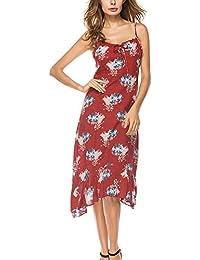 Battercake Vestidos Mujer Verano Elegante Spaghetti V Cuello Sin Tirantes Rückenfrei Vestido Casuales Mujeres Mujer Fiesta