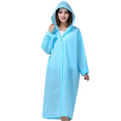 WENMW Eva Umweltfreundlich und geschmacklos Tragbare Regenjacke Verdickung Geeignet für Reisen Camping, Reiten, Wasserrutschen Können wiederverwendet Werden (Farbe : Blau, Größe : L)