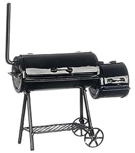 puppenhaus miniatur 1 12 gartenm bel deluxe bbq grill barbecue smoker spielzeug. Black Bedroom Furniture Sets. Home Design Ideas