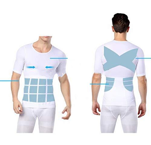 AMURAO Männer, die Hemd-Taillen-Körper-Former-Bauch-Trimmer-Oberseiten-Steuerbrustunterwäsche abnehmen (Former Und Taille Trimmer)