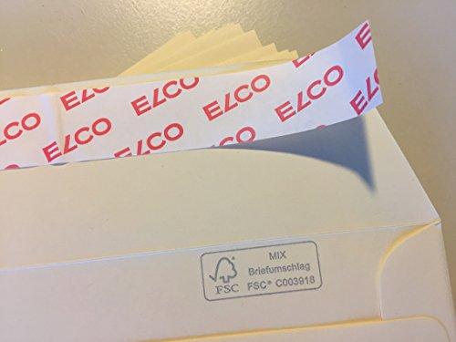 100 Briefumschläge, C6, Chamois, Hellchamois, Cremeweiß, von ELCO, 162 x 114 mm, mit Abziehstreifen, 100 g/qm