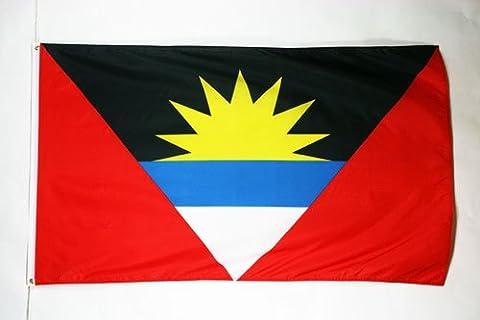 FLAGGE ANTIGUA UND BARBUDA 150x90cm - ANTIGUA AND BARBUDA FAHNE 90 x 150 cm - flaggen AZ FLAG Top Qualität