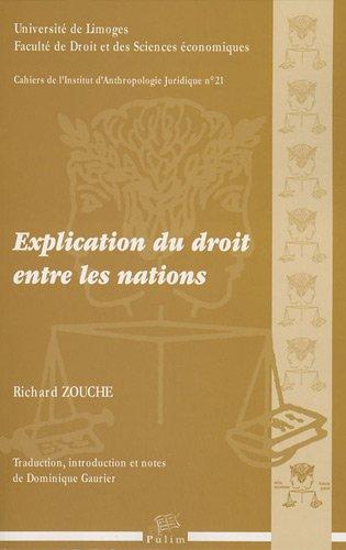 Explication du droit entre les nations par Richard Zouch