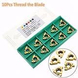 3nh 10pcs 16ER 3/8 Inch AG60 Carbide Threading Insert For External Turning Toolholder