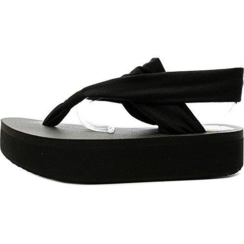 Sanuk Yoga Sling 2 Platform Toile Tongs Black