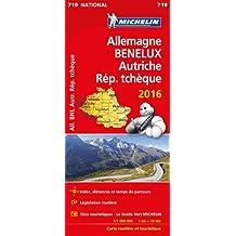 Carte Allemagne, Benelux, Autriche, Rép. tchèque 2016 Michelin