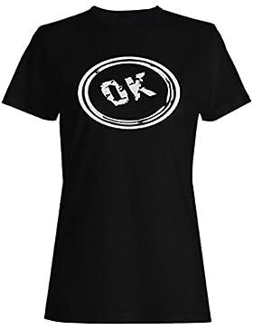 Ok bueno divertido sello vintage camiseta de las mujeres f286f