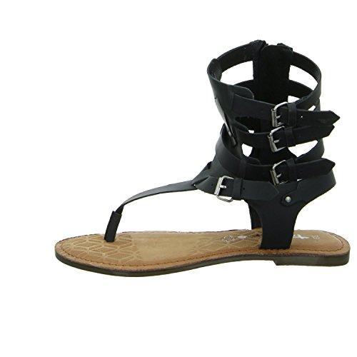 Tamaris 1-28167-26/001 Damen Sandalette bis 30mm Absatz Schwarz (Schwarz)