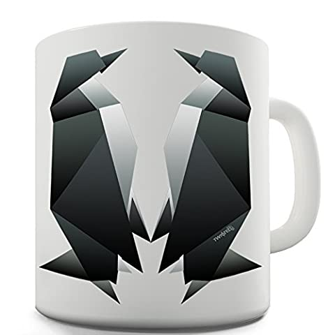 Twisted Envy Origami pingouins Mug de fantaisie en céramique