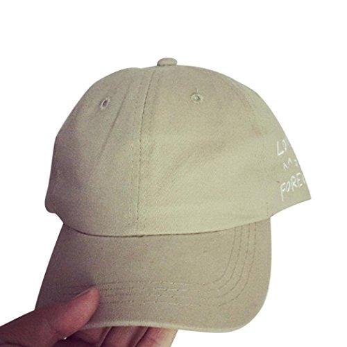 Preisvergleich Produktbild URIBAKY Stickerei Baumwolle deckelhalter Ikea Edelstahl kugelgrill schranktür Baseball Deckel Snapback Kappen Hüfte Hop Hüte (Khaki)