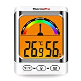 ThermoPro TP52 Indoor Hygrometer Thermometer Digital Room Thermometer Temperature Gauge Humidity Monitor Thermometer for Terrariums with Backlight LCD Display Air Humidity Meter