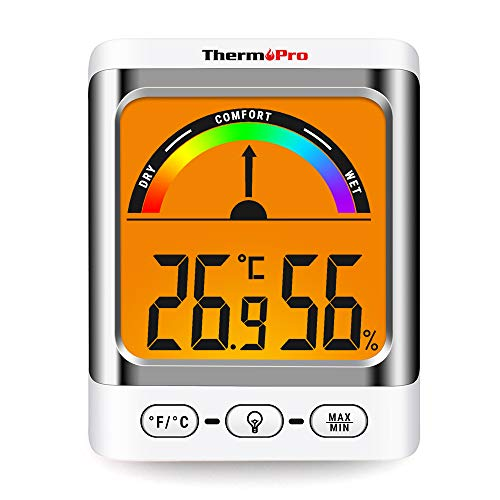 ThermoPro TP52 digitales Thermo Hygrometer Innen Raum Thermometer mit Schimmelalarm Temperatur und Luftfeuchtigkeitmessgerät für Raumklimakontrolle, Max/Min Funktion