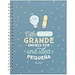 Mr. Wonderful - Libreta con mensaje Cada sueño grande empieza por una pequeña idea