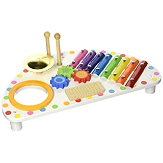 Tooky Mini Band Holz Schlaginstrument Xylophon Musical Spielzeug für Kinder, 44 x 23 x 10 cm