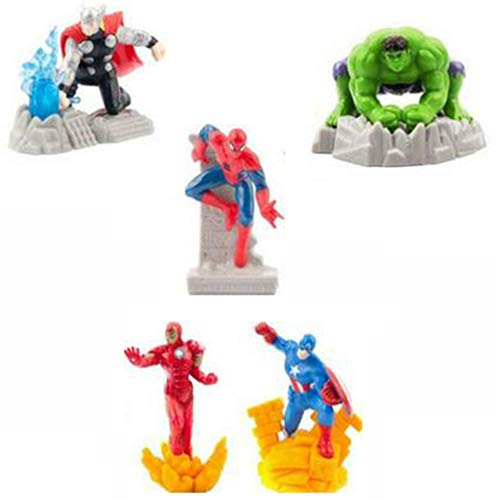 rs Figuren Set, Superhelden Sammelfiguren bestehend aus Hulk, Thor, Captain America, Iron Man und Spiderman ()